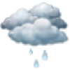 Cielos cubiertos con lluvia debil