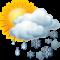 Intervalos nubosos con nevadas
