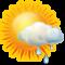 Intervalos nubosos con lluvia debil
